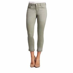 Jessica Simpson Rolled Crop Skinny Jeans Green